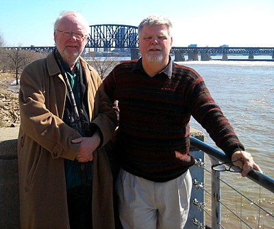 With 2011 Grawemeyer Award winner Louis Andriessen at the Falls of the Ohio near Louisvill